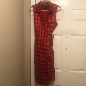 Ashley Stewart Plaid Wrap Style Dress